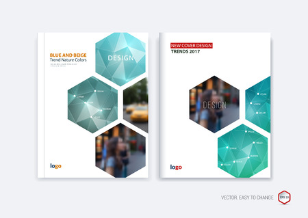 Abstract cover design business brochure template layout report abstract cover design business brochure template layout report booklet in a4 with turquoise wajeb Images