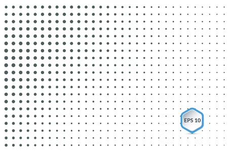 black dots: Vector halftone dots. Black dots on white background. Illustration