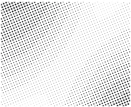 raster artistic: Vector halftone dots. Black dots on white background. Illustration