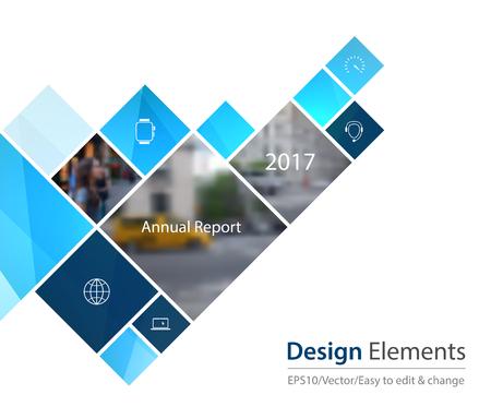 Vector Design Element voor grafische lay-out. Abstracte achtergrond sjabloon met pleinen en pijl voor het bedrijfsleven en de communicatie in vlakke stijl met mozaïek verbinding concept. Modern poster.