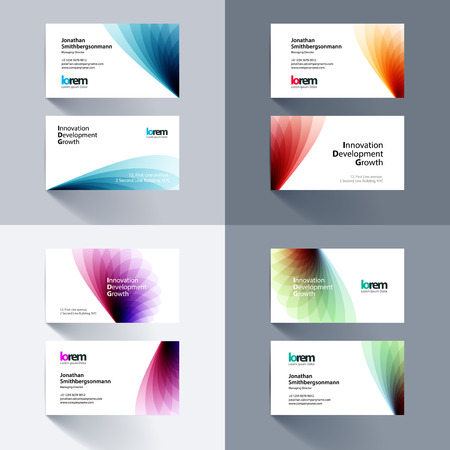 Vector business card template with soft shapes and waves background vector vector business card template with soft shapes and waves background for business and beauty with beautiful overlap effect simple and clean design colourmoves