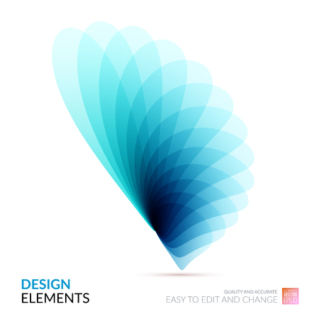 Vector Design Elements for graphic layout. Modern Abstract background template with blue soft flower shapes and wave gradient elements for business and beauty with beautiful overlap effect.