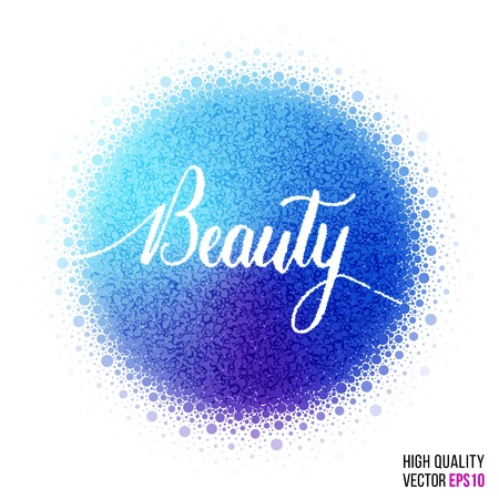 cookware: Beauty design for greeting card template, woman magazine, website layout with splash and artistic explosion effect for party, beauty salon, festival and celebration concept. Blue, purple vector.