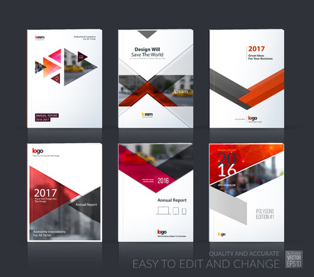 industry design: Brochure template layout
