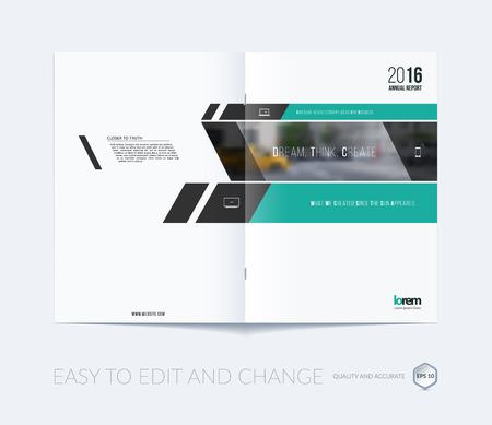 collection de mise en page du modèle de brochure, rapport annuel de conception de la couverture, le magazine, dépliant en format A4 avec des bannières vertes et diagonales pour les entreprises, la construction, le conseil. dessin vectoriel abstrait.