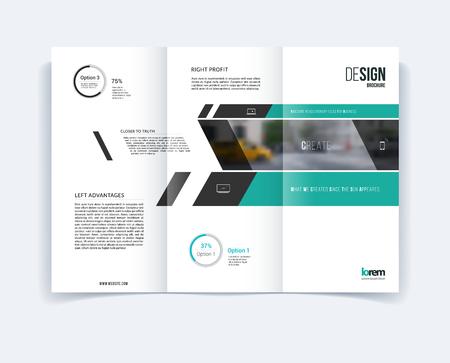 Tríptico plantilla de diseño de folletos, diseño de cubierta, folleto en A4 con la bandera y diagonales, infografía diagrama para la ingeniería y la naturaleza concepto. Resumen de diseño vectorial.