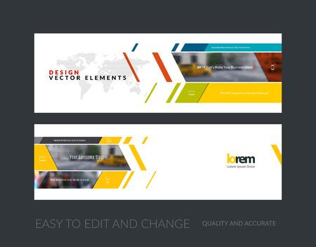 Vector conjunto de banners para sitios web modernos horizontales y diagonales con rectángulos de negocio, construcción, consultoría. diseño de las cabeceras web limpia. folleto corporativo creativo.