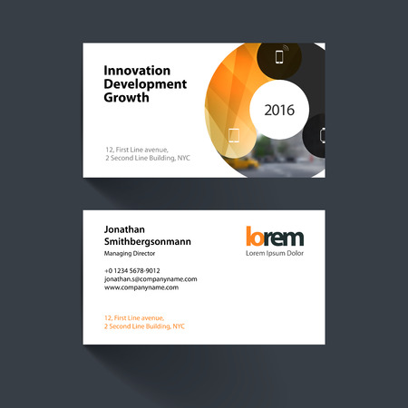 Business card template with circle round diagram for it business business card template with circle round diagram for it business technology simple and friedricerecipe Image collections
