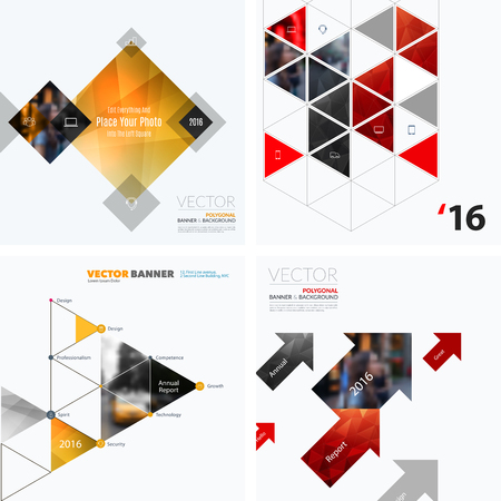 Business vector design elements for graphic layout. Modern abstr