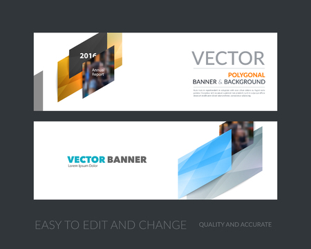 d: Vector set of modern horizontal website banners with colourful d