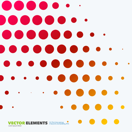rounds: Abstract vector design elements for graphic layout. Modern business background template with colourful rounds, circles, dots  for tech, pharmacy, health, ecology. Illustration