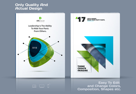 catalog: Abstract annual report, business vector template. Brochure design, cover modern layout, flyer in A4 with colourful soft triangular shapes for tech, science, finance with light background.