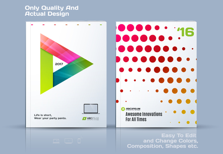 catalog: Brochure design, abstract annual report, business vector template. Illustration