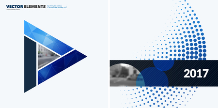 Abstract vector design elements for graphic layout. Modern business background template with colourful triangles,