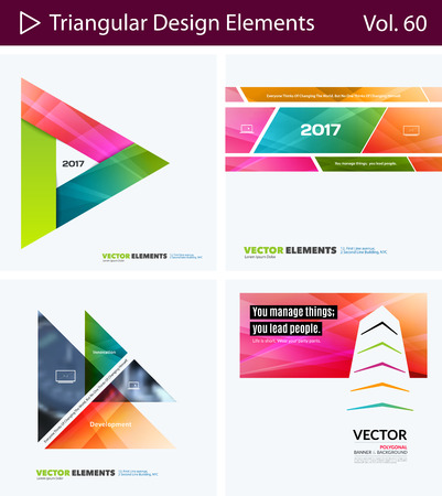 mesh: Set of Abstract vector design elements for graphic layout. Modern business background template