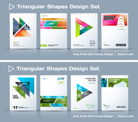 catalog: Set of Abstract business design, annual report, vector template brochure.
