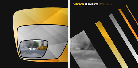 Set of Abstract vector design elements for graphic layout. Modern business background Stock Photo