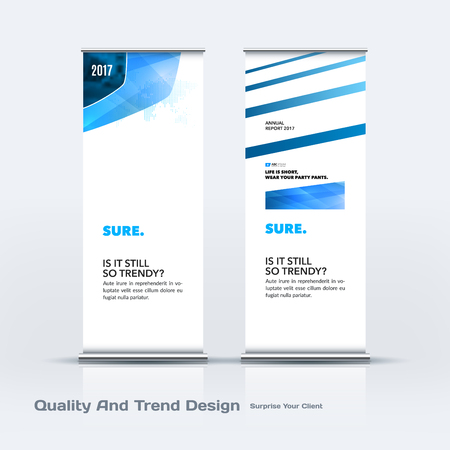 chrome: Abstract business vector set of modern roll Up Banner stand design template with colourful soft, rounded shapes