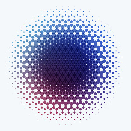 rounds: Abstract vector design elements for graphic layout. Modern business template with colourful red blue purple rounds circles for night club, party, celebration, birthday on white background. Illustration