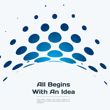 rounds: Abstract blue vector design round elements for graphic template Illustration