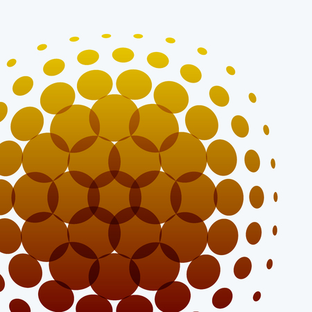 rounds: Set of Abstract vector yellow design rounds