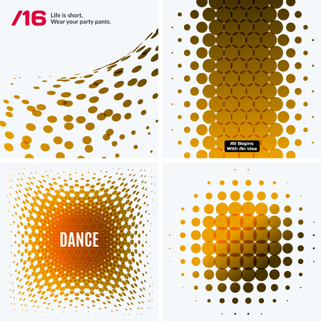 rounds: Set of Abstract vectors in yellow design Illustration