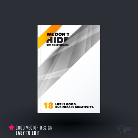 rectangle: Design of business vector template, brochure, abstract annual report, cover modern layout, flyer in A4 with many colourful rectangles, abstract lines for finance, teamwork with background. Illustration