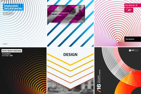 Diferente conjunto de antecedentes para el diseño gráfico, plantilla de cubierta de libro, folleto de negocios, diseño de plantilla de sitio web.