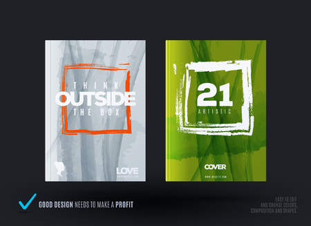 Set of abstract design of business vector brochure, template cover, playbill, poster.