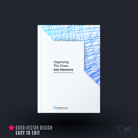 Design of brochure, abstract annual report, cover modern layout