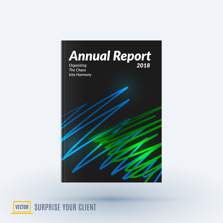 Design of brochure, abstract annual report, cover modern layout,  イラスト・ベクター素材