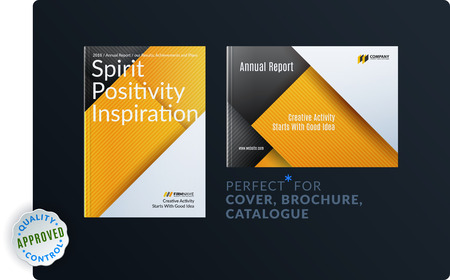 Material design of brochure set, abstract annual report, horizontal cover Vector illustration.