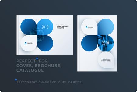 Creative design of brochure set vector illustration