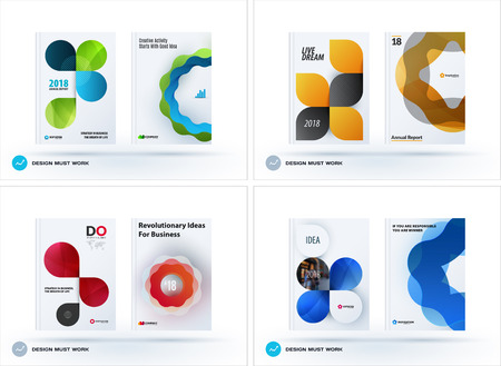 Set of design brochure, abstract annual report Иллюстрация