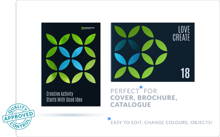Creative design of business brochure set, abstract horizontal cover layout, flyer in A4