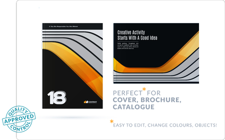 Template creative abstract design of brochure set, horizontal cover, flyer in A4 with colorful smooth shapes.