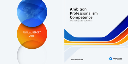Set Business orange blue design of abstract vector elements for graphic template. Modern background.