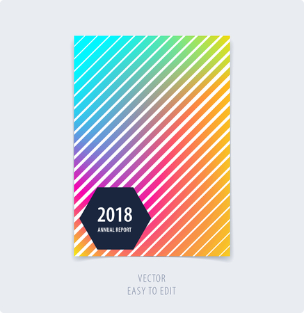 Abstract graphic design of brochure in fluid liquid style. Modern catalog cover template, flyer in A4 with colorful blurred smooth background for branding. Business vector presentation.