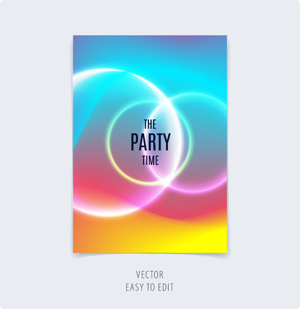 Abstract colorful graphic design of brochure cover template