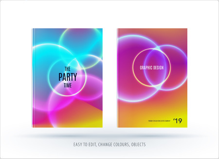 Abstract colorful graphic design of brochure cover templates Illustration