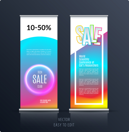 Sale banner templates design with colorful background