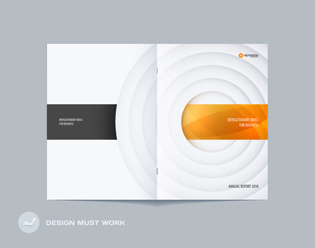 Abstract brochure in paper-cut design style Illustration