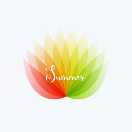 Abstract design of colourful elements for a modern background with flower smooth shape for business branding summer.