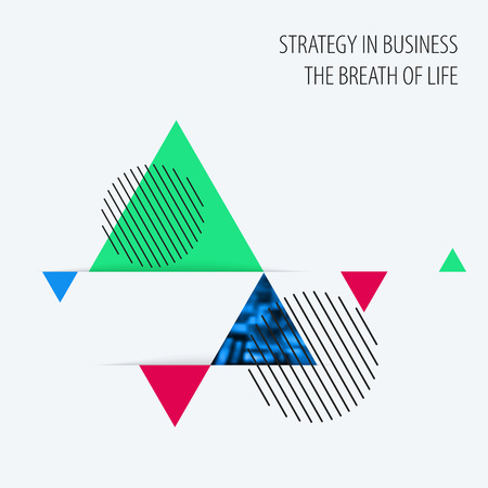 Abstract design of colourful vector elements for modern background with triangles shapes for business branding summer.