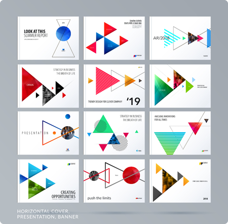 Triangular design presentation.