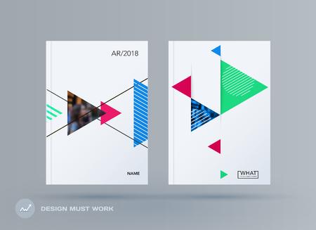 Brochure design triangular template Illustration