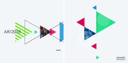 Set of modern design abstract templates. Illustration