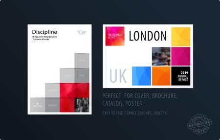 Brochure design square template vector illustration