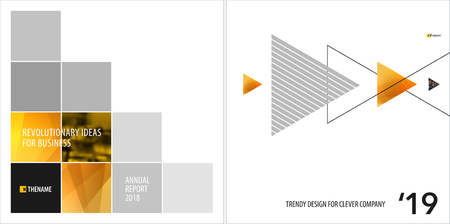 Abstract design of colourful vector elements for modern background with square shapes for business branding summer.