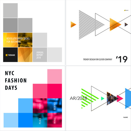 Abstract design of vector elements for graphic template. Modern background colorful square pixel shapes for business branding, website sale, marketing, discount, offer.